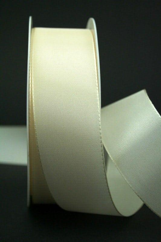 Taftband creme, 40 mm breit - hochzeitsbaender