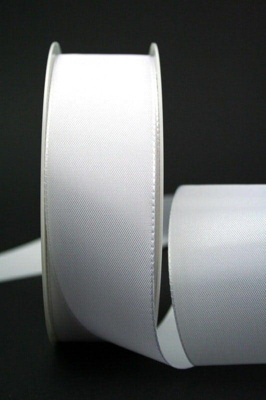 Taftband weiß, 40 mm breit - hochzeitsbaender