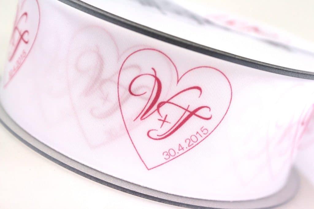 Personalisiertes Schleifenband farbig bedruckt - personalisiertes-schleifenband, individuelles-band