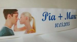 Mehr Individuell geht nicht: Hochzeitsbänder mit Foto - personalisierte-bander, hochzeitsdekoration