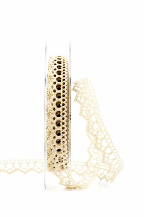 Hochzeitslitze, creme, 15 mm breit - spitzenbaender, hochzeitsbaender, anlaesse