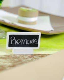 Tafel-Tischkarte/Namensschild, weiß - hochzeitsaccessoires, kommunion-konfirmation
