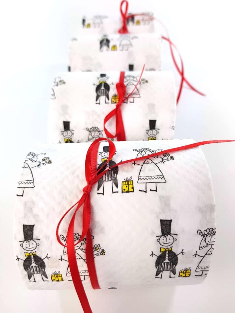 Toilettenpapier zur Hochzeit - hochzeitsdekoration, gastgeschenke