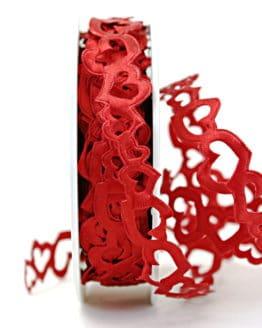 Herzengirlande rot, Herz an Herz - hochzeitsbaender, girlande, valentinstag, muttertag
