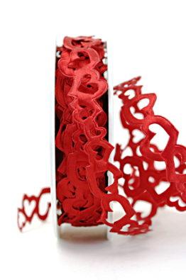 Hochzeitsgirlande rot mit Herzen (540002-20-45)