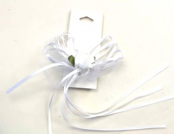 Hochzeitsschleife fertig gebunden, ca. 10 cm - hochzeitsbaender, hochzeitsaccessoires