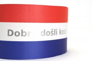 Hochzeitstischband Kroatien individuell bedruckt