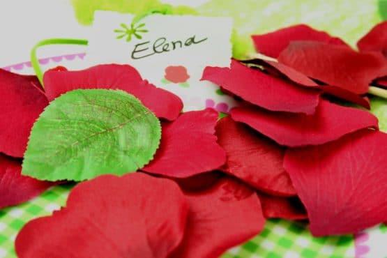 Textile Rosenblütenblätter dunkelrot - streuartikel, hochzeitsaccessoires