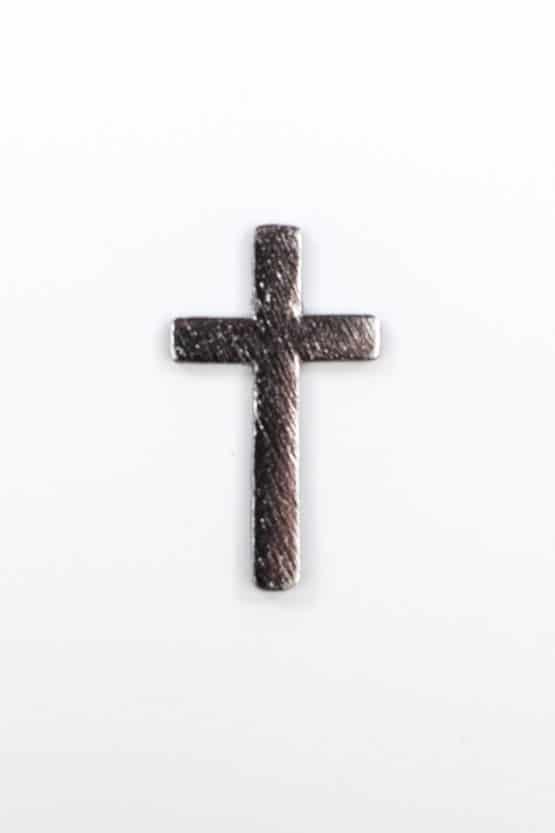 Streuartikel Kreuz, aus Holz, silber - streuartikel, kommunion-konfirmation