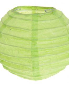 Lampion aus Papier, grün, ca. 10 cm, 2 Stück - lampions