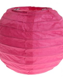 Lampion aus Papier, pink, ca. 10 cm, 2 Stück - lampions
