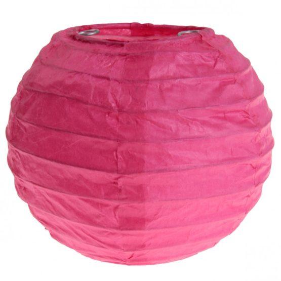 Lampion aus Papier, pink, ca. 20 cm, 2 Stück - lampions