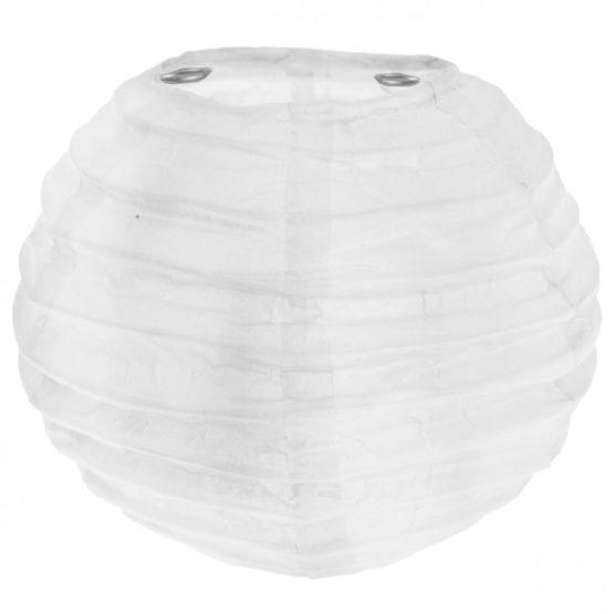 Lampion aus Papier, weiß, ca. 20 cm, 2 Stück - lampions