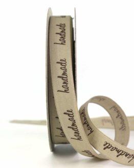 "Taftband ""Handmade"", 15 mm breit - osterdeko_2021, geschenkbaender, gemusterte-bander, dekobaender, dekoband, bedrucktes-satinband, bedruckte-everyday-bander"