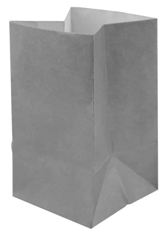 Lichttüte grau, 6 x 10 cm, 6 St. - hochzeitsaccessoires