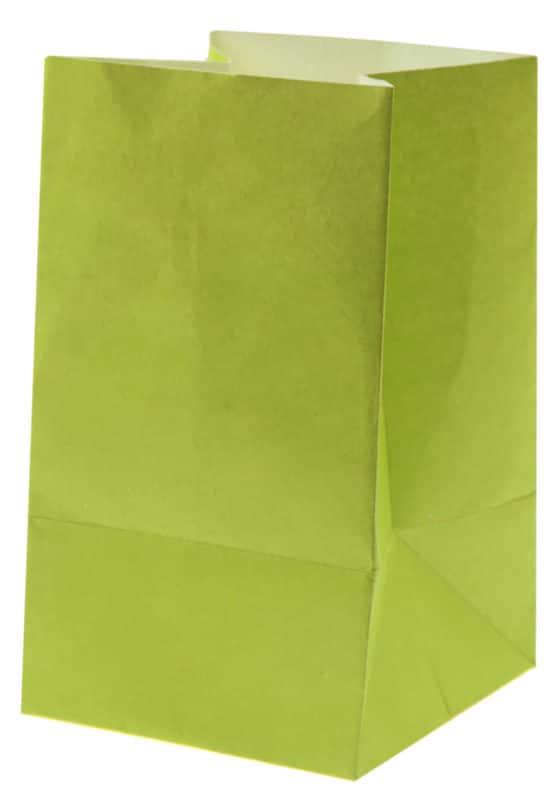 Lichttüte grün, 6 x 10 cm, 6 St. - hochzeitsaccessoires