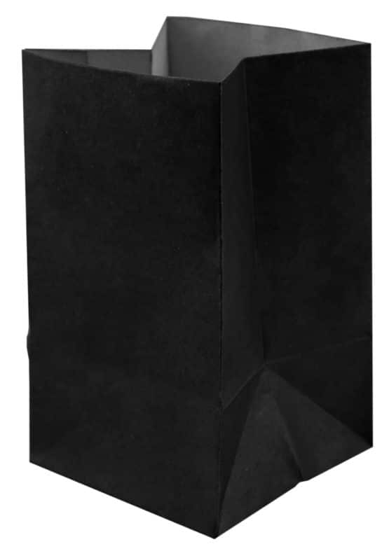 Lichttüte schwarz, 6 x 10 cm, 6 St. - hochzeitsaccessoires