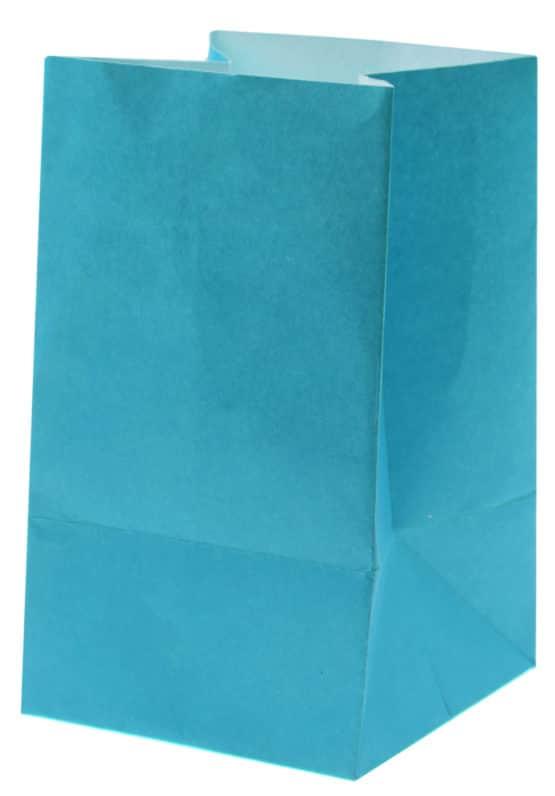 Lichttüte türkis, 6 x 10 cm, 6 St. - hochzeitsaccessoires