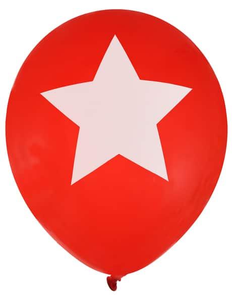 Luftballons Stern, rot, 8 Stück - hochzeitsaccessoires