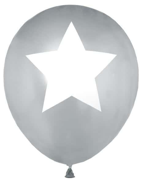 Luftballons Stern, gold, 8 Stück - hochzeitsaccessoires