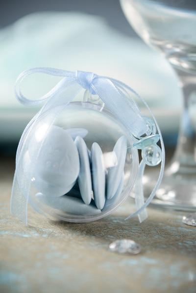 Mini-Schnuller hellblau, für Deko, 12 St. Pack - hochzeitsaccessoires, taufe