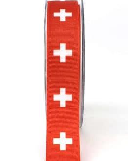 Dekoband Schweiz, 25 mm - nationalbander