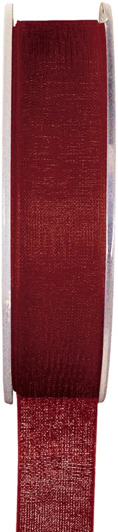 Organzaband bordeaux, 7  mm breit, BUDGET - organzabaender, organzaband-budget