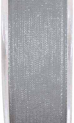 Organzaband 7mm grau BUDGET (2558_4)