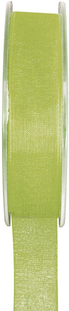 Organzaband grün, 7  mm breit, BUDGET - organzabaender, organzaband-budget, hochzeitsbaender
