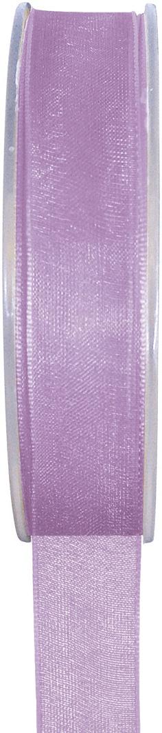 Organzaband flieder, 7  mm breit, BUDGET - organzabaender, organzaband-budget, hochzeitsbaender