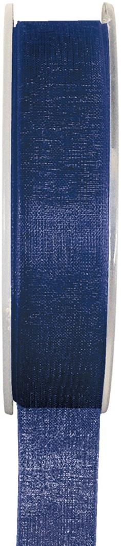 Organzaband marine, 7  mm breit, BUDGET - organzabaender, organzaband-budget