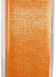 Organzaband orange, 7  mm breit, BUDGET - organzabaender, organzaband-budget