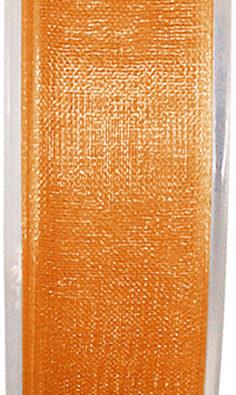 Organzaband 7mm orange BUDGET (2558_57)