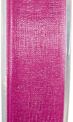 Organzaband 7mm pink BUDGET (2558_14)
