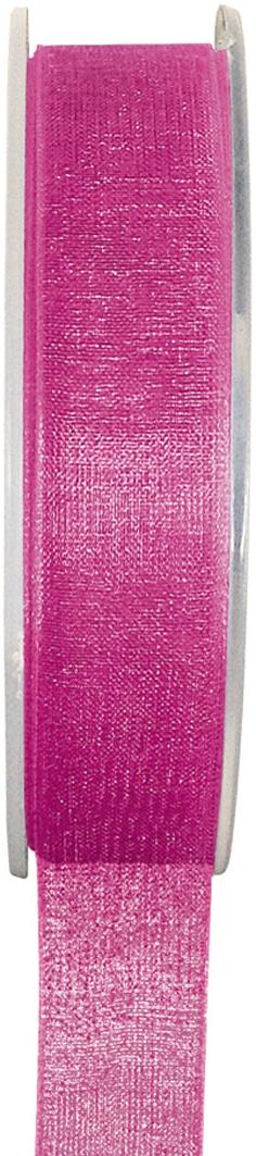 Organzaband pink, 7  mm breit, BUDGET - organzabaender, organzaband-budget, hochzeitsbaender