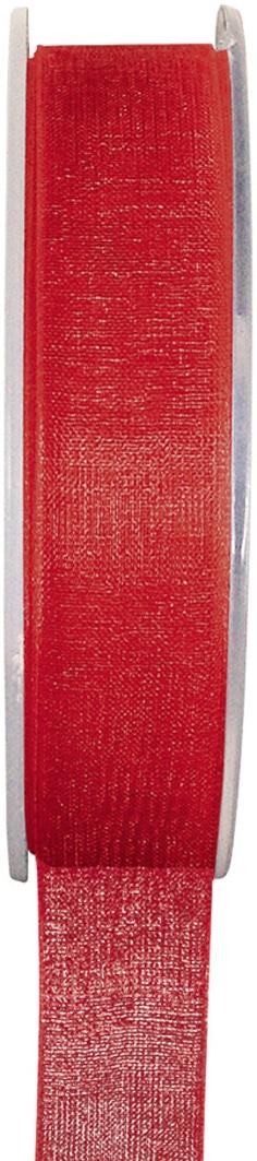 Organzaband rot, 7  mm breit, BUDGET - organzabaender, organzaband-budget