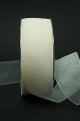 Organzaband creme mit Webkante 40mm (22011-40-420)