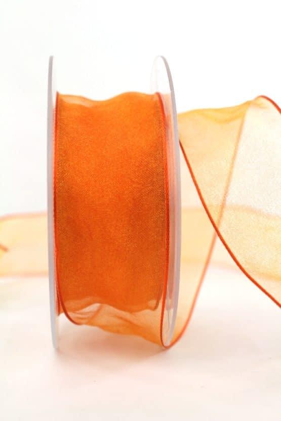 Organzaband orange, 40 mm breit, BUDGET - organzabaender