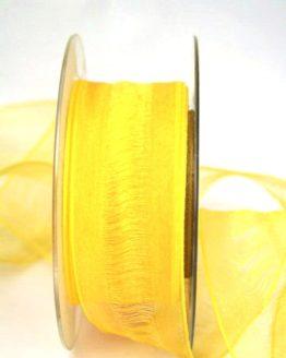 Organzaband Plus gelb, 40 mm breit, BUDGET - organzabaender