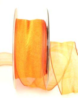 Organzaband Plus orange, 40 mm breit, BUDGET - organzabaender