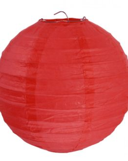 Papierlampion, rot, ca. 30 cm, 2 Stück - lampions