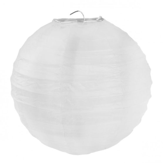 Papierlampion, weiß, ca. 30 cm, 2 Stück - lampions