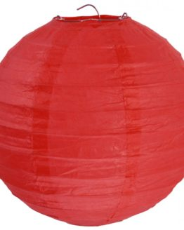 Papierlampion XL, rot, ca. 50 cm - lampions