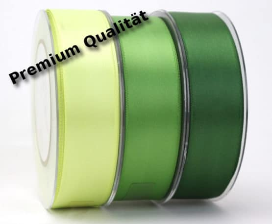 Premium Doppelsatinband 25 mm, extra weich - dauersortiment, satinband, premium-qualitat