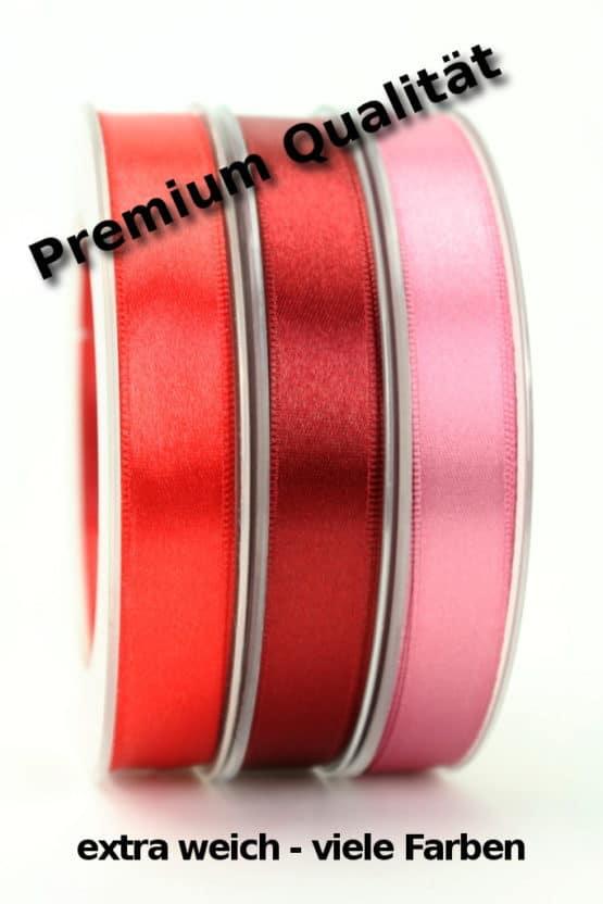 Premium Doppelsatinband 15 mm, extra weich - dauersortiment, satinband, premium-qualitat