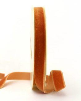 Samtband cognac, 16 mm - samtbaender, geschenkbaender, einfarbige-geschenkbaender, dekobaender
