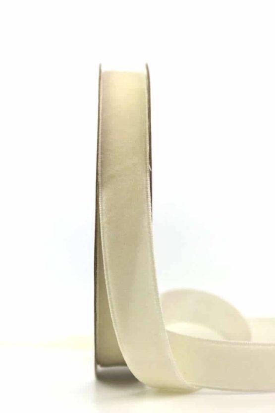 Samtband creme, 15 mm - samtbaender, hochzeitsbaender