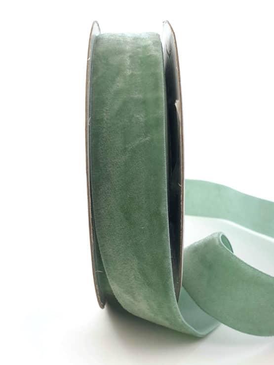 Samtband eisgrün, 25 mm - samtbaender, hochzeitsbaender