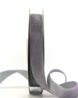 Samtband grau, 15 mm - samtbaender, hochzeitsbaender