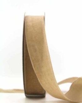 Samtband sand, 25 mm - samtbaender, hochzeitsbaender